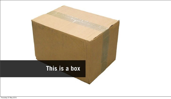 This is a box    Thursday 27 May 2010