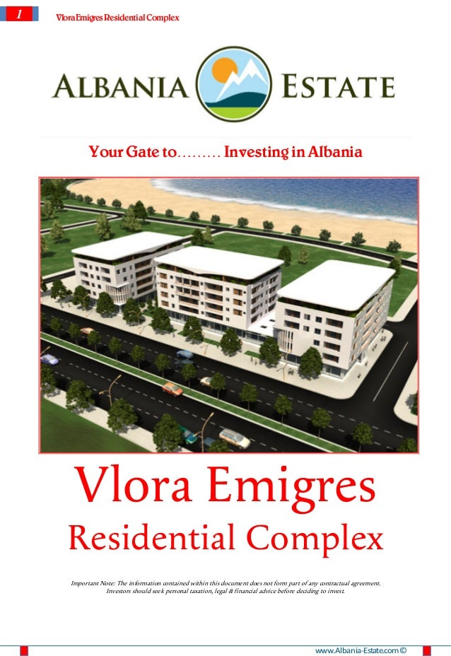 1   Vlora Emigres Residential Complex             Your Gate to……… Investing in Albania        Vlora Emigres       Resident...