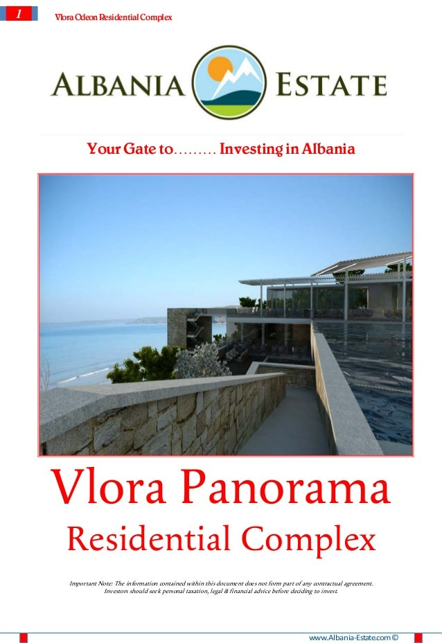 1   Vlora Odeon Residential Complex             Your Gate to……… Investing in Albania    Vlora Panorama      Residential Co...