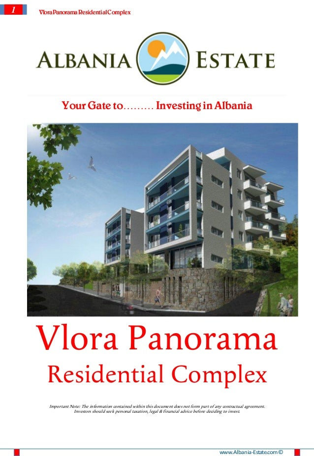 1   Vlora Panorama Residential Complex             Your Gate to……… Investing in Albania    Vlora Panorama      Residential...