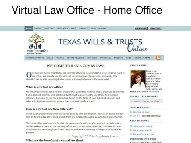 Virtual Law Office - Home Office Copyright 2015 (c) Stephanie Kimbro