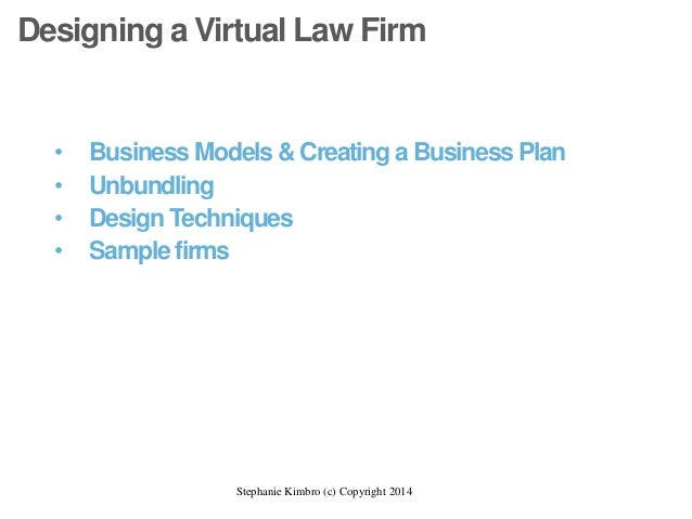 Virtual law firm business plan