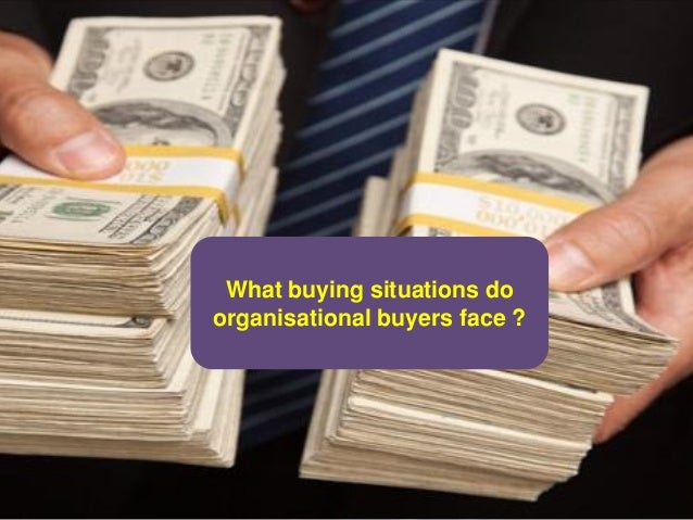 What buying situations do organisational buyers face ?