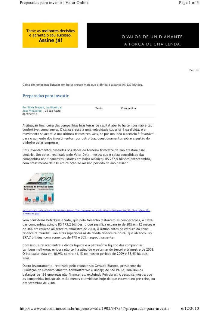 Preparadas para investir   Valor Online                                                                            Page 1 ...