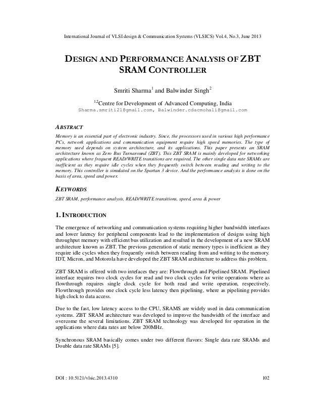 International Journal of VLSI design & Communication Systems (VLSICS) Vol.4, No.3, June 2013 DOI : 10.5121/vlsic.2013.4310...