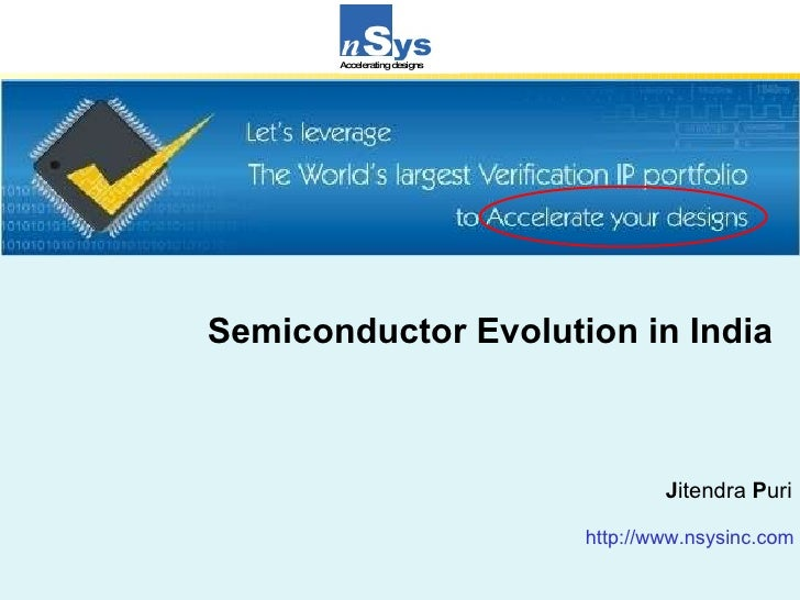 <ul><ul><ul><ul><ul><li>Semiconductor Evolution in India </li></ul></ul></ul></ul></ul><ul><ul><ul><ul><ul><li>J itendra  ...