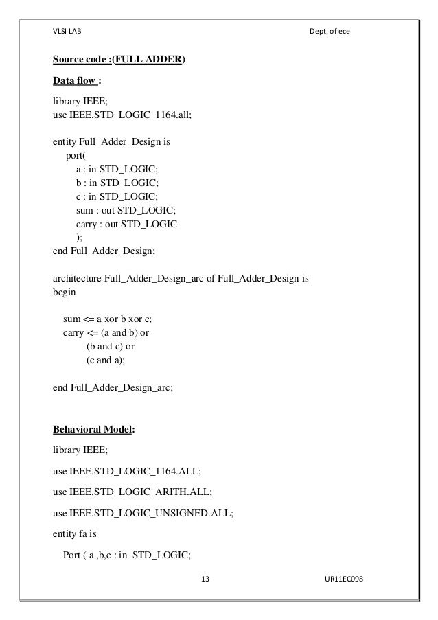 Code pdf vhdl