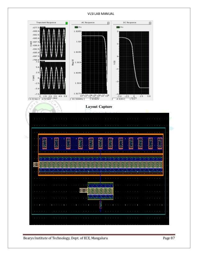 VLSI LAB MANUAL Bearys Institute of Technology, Dept. of ECE, Mangaluru Page 87 Layout Capture