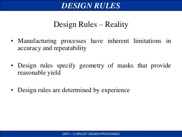lambda based design rules in vlsi pdf