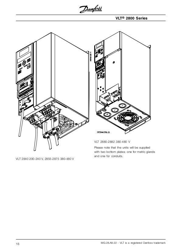 Danfoss Vlt 2800 installation manual English To Spanish on