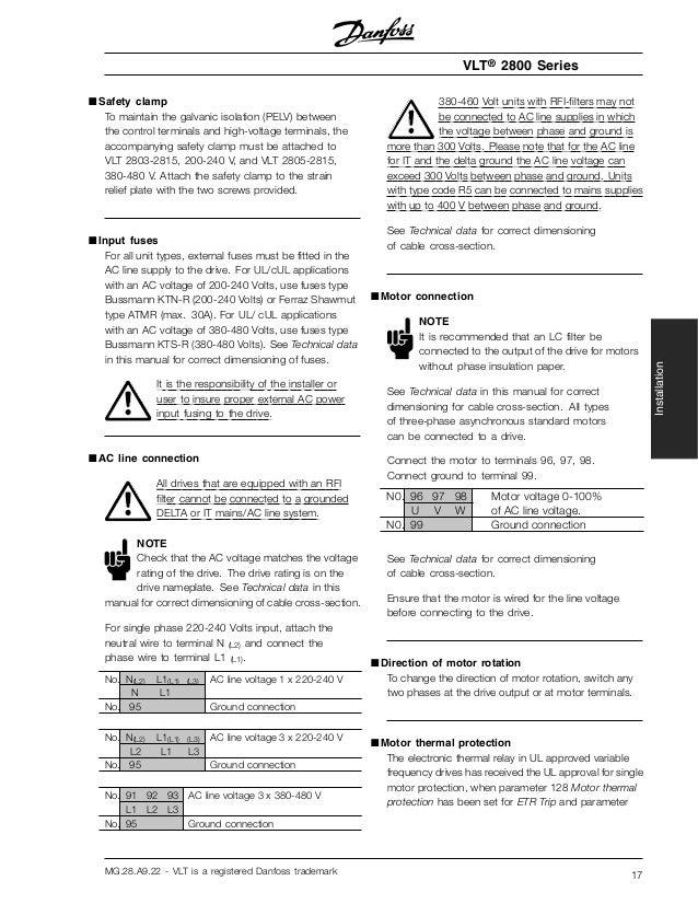 manual variador danfoss vlt 2800 rh slideshare net danfoss vlt 2800 manual error codes danfoss vlt 2800 manual download