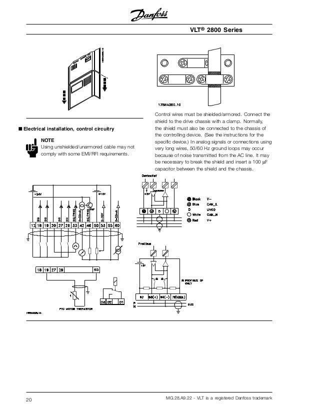 manual variador danfoss vlt 2800 rh slideshare net danfoss vfd with bypass wiring diagram danfoss vlt 2800 wiring diagram