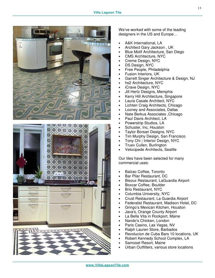 Restaurant Interior Design Orange County : Villa lagoon tile usa product catalog