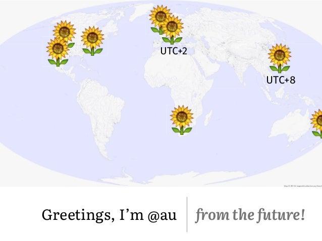 ! Greetings, I'm @au from the future! UTC+8 UTC+2 ! ! ! ! ! ! !