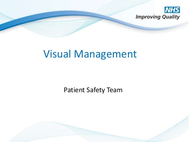 © NHS Improving Quality 2014 Visual Management Patient Safety Team