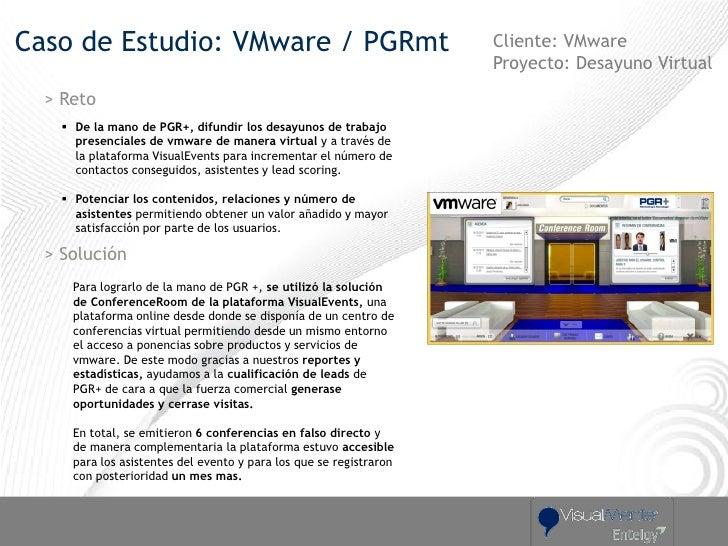 Caso de Estudio: VMware / PGRmt                                      Cliente: VMware                                      ...