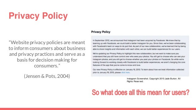 Instagram: terms of use and privacy policy
