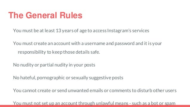 instagram terms of use and privacy policy