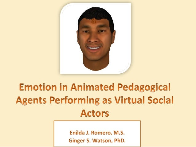 Outline of Presentation • • • • • •  Introduction to Animated Pedagogical Agents Perceptual User Interface Design Emotiona...