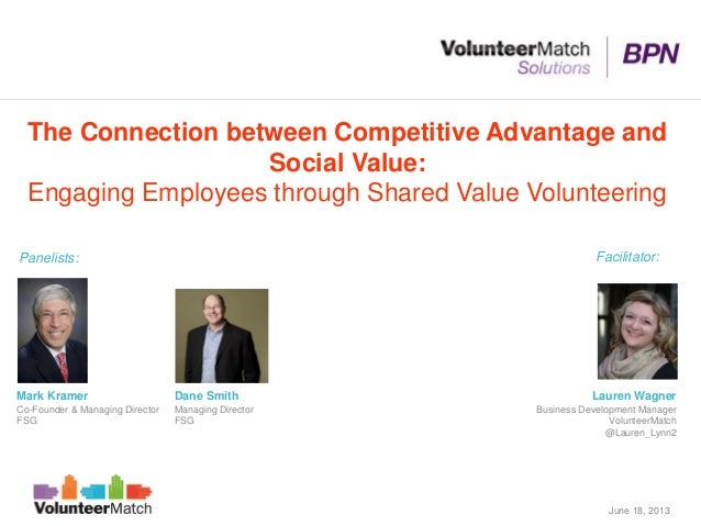 The Connection between Competitive Advantage andSocial Value:Engaging Employees through Shared Value VolunteeringDane Smit...