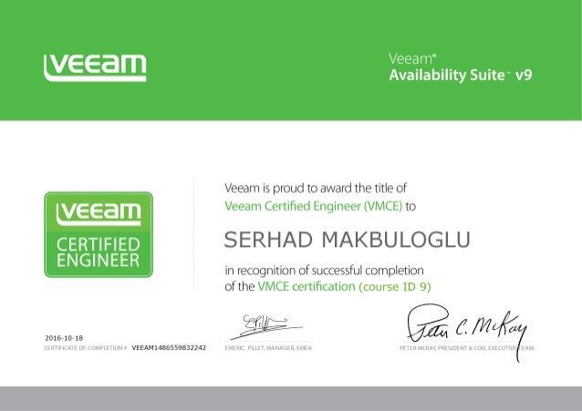 Veeam Certified Engineer - VMCE9
