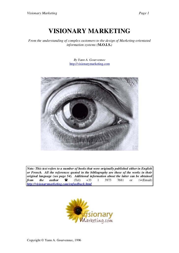 Visionary Marketing                                                               Page 1               VISIONARY MARKETING...