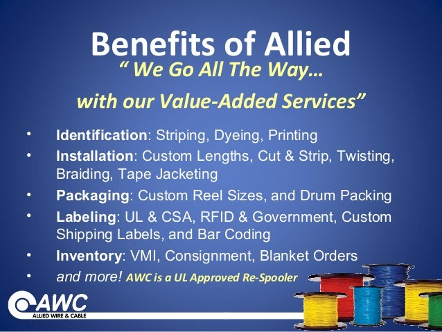 Allied Wire & Cable VMI Program