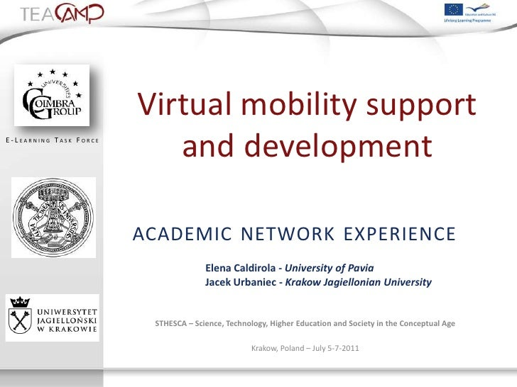 Virtual mobility supportE - L EARNING T ASK F ORCE                                and development                         ...