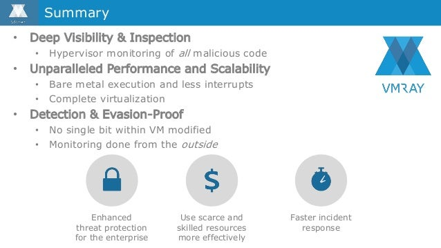 • Deep Visibility & Inspection • Hypervisor monitoring of all malicious code • Unparalleled Performance and Scalability • ...