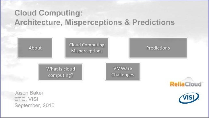 Predictions<br />Cloud Computing Misperceptions<br />About<br />VMWare Challenges<br />What is cloud computing?<br />