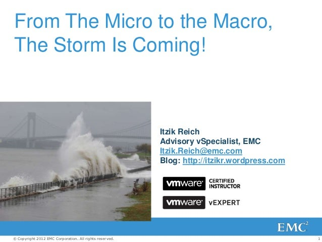 From The Micro to the Macro,The Storm Is Coming!                                                         Itzik Reich      ...