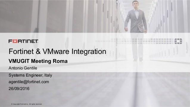 Fortinet Amp Vmware Integration
