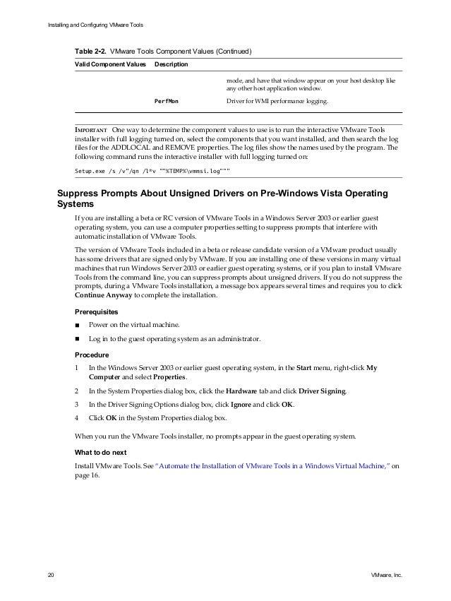 Vmware tools-installation-configuration