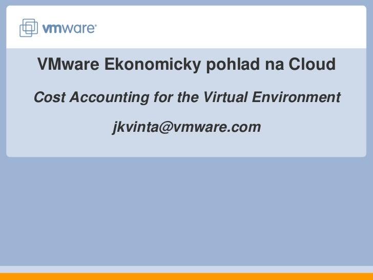 VMware: Ekonomický pohľad na cloud