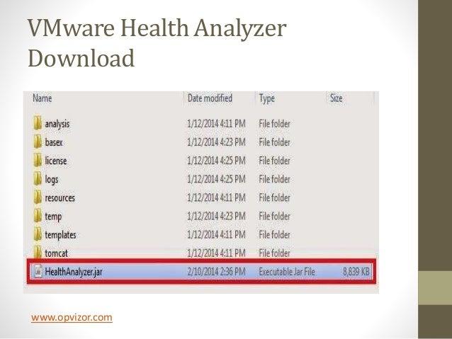 vmware health analyzer