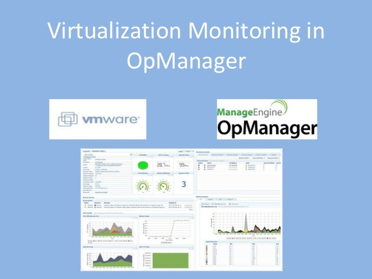 Virtualization Monitoring in OpManager