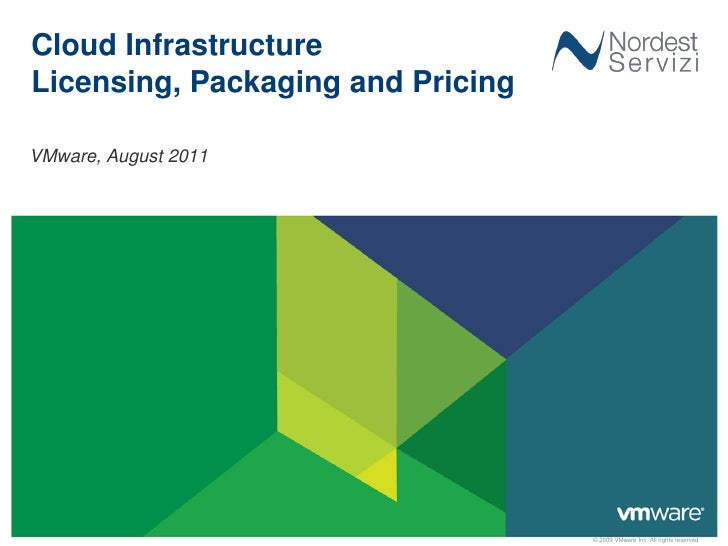 Cloud InfrastructureLicensing, Packaging and PricingVMware, August 2011                                   © 2009 VMware In...