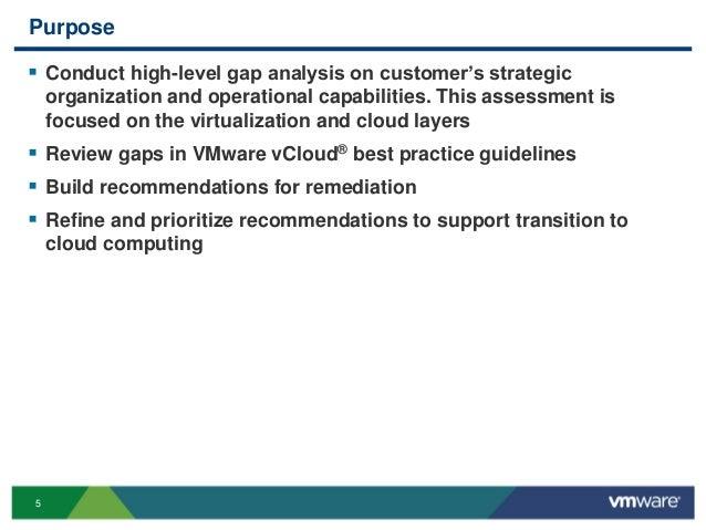 5 Purpose  Conduct high-level gap analysis on customer's strategic organization and operational capabilities. This assess...