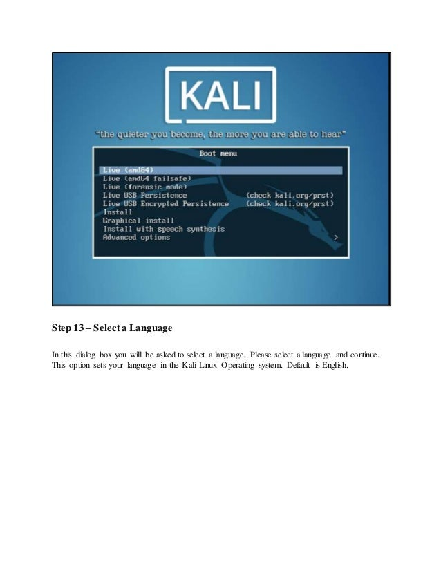 Kali Linux Installation process in VMware Step-By-Step