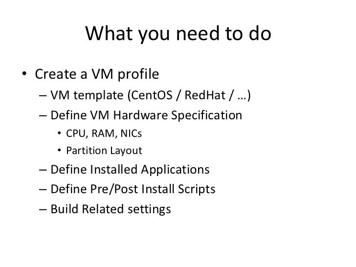 VMware studio practice in TIM