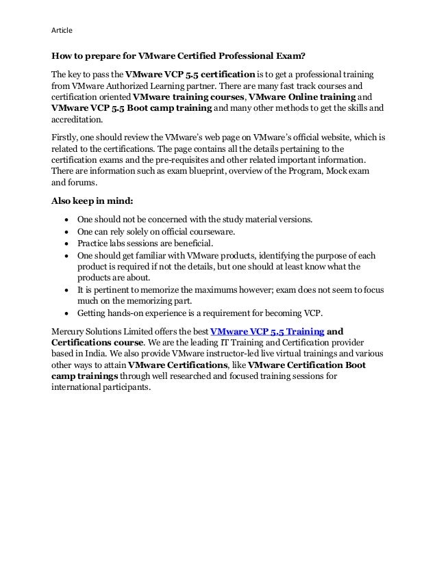 Vmware vcp 55 training and certification exam code vcp510 2 malvernweather Choice Image
