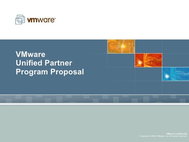 VMware Unified Partner Program Proposal