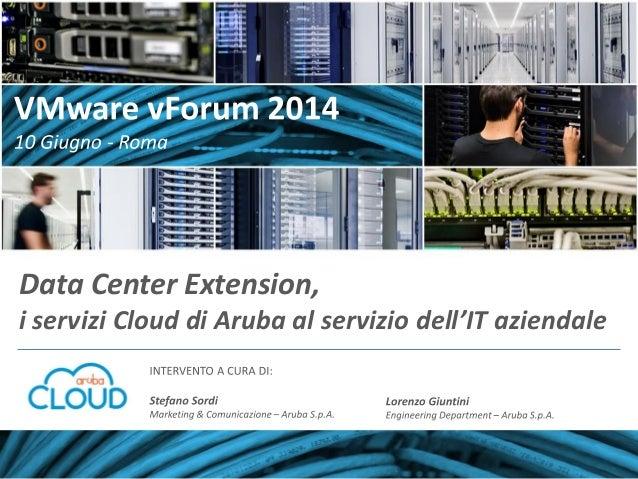 Data Center Extension, i servizi Cloud di Aruba al servizio dell'IT aziendale
