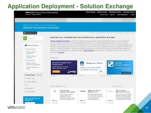 106 Application Deployment - Solution Exchange