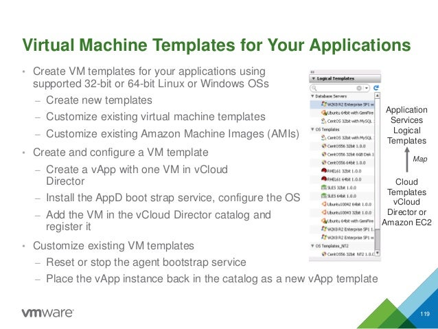 Virtual Machine Templates for Your Applications • Create VM templates for your applications using supported 32-bit or 64-b...