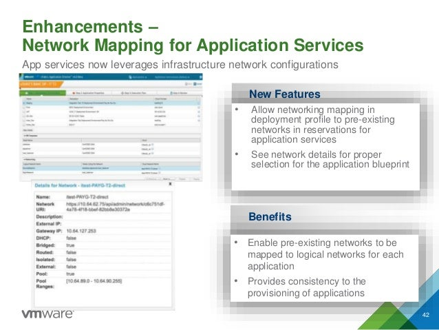 Enhancements – Network Mapping for Application Services App services now leverages infrastructure network configurations N...