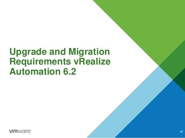 Upgrade and Migration Requirements vRealize Automation 6.2 60