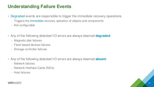 Understanding Failure Events  Degraded events are responsible to trigger the immediate recovery operations. – Triggers th...