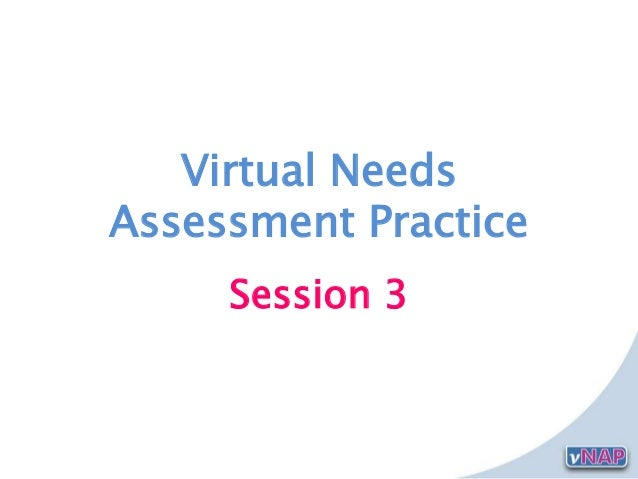 Virtual NeedsAssessment PracticeSession 3