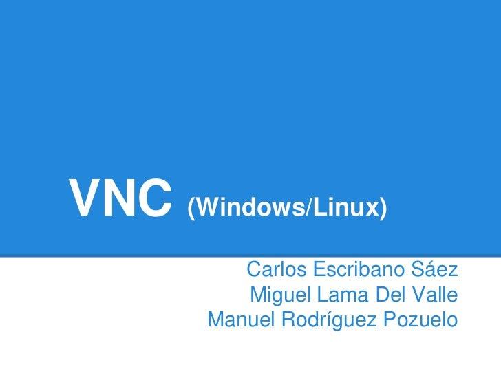 VNC (Windows/Linux)           Carlos Escribano Sáez           Miguel Lama Del Valle        Manuel Rodríguez Pozuelo